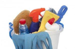 Rengöringsprodukter, fönsterputsning ingår i priset